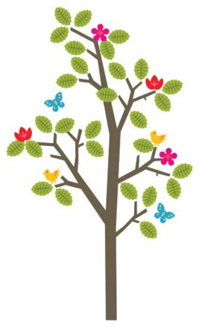 Notneutral seasons tree decal
