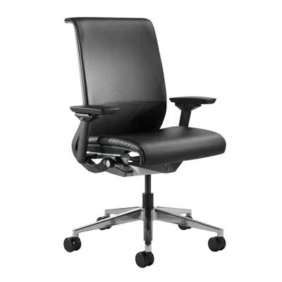 Steelcase think blk lthr